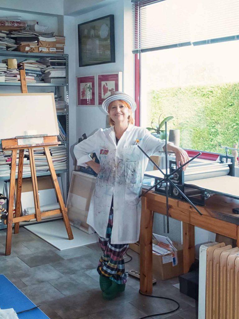 Maite de la parte. Artista - Burgos - pintura - grabado